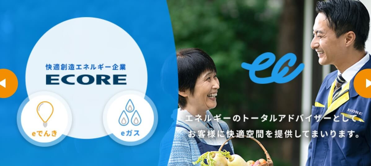 エコアの公式サイト画像2